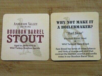 Beer COASTER ~/</>~ ANDERSON VALLEY Brewing Bourbon Barrel Stout ~/</>~ Boilermaker?