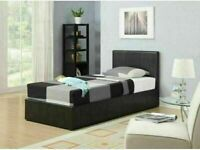 🔴EXCELLENT QUALITY🔵(3ft) Single Size Leather Storage Bed Frame With Opt Mattress-Order Now