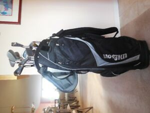 For Sale -Ladies' Golf Clubs, Bag & golf cart - $125