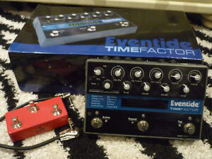 Eventide Timefactor with T1M aux switch & TRS cable Great soundi