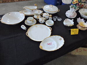 "GORGEOUS LIMOGES NIPPON COLLECTION SERVING PCS. MONOGRAMMED ""M"""