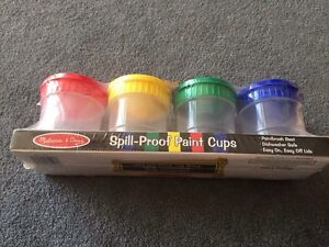 Melissa & Doug Spill-Proof Paint Cups - new in package