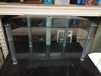 Glass tv stands.