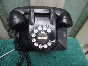 Vintage Northern Electric Rotary Dial Wall Telephone Bakelite