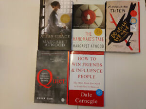 Books by Margret Atwood and other assorted fiction/non-fiction