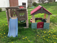 Little tikes climb and slide castle and home garden playhouse
