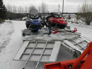 Package Deal! 2004 RX-1,  2004 Warrior  & and Sledbed trailer