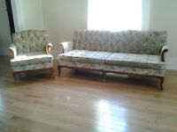 French Provincial Style Couch and Chair