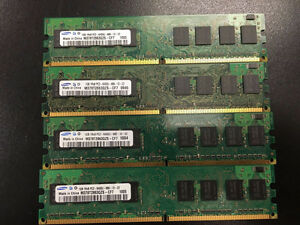 Samsung 4 x 1GB DDR2 800MHz PC2-6400 Ram Memory (4GB kit)