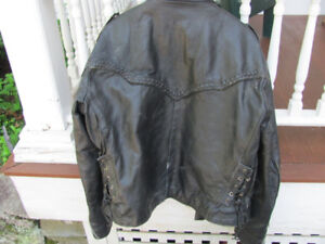 Mens Motorcycle Jacket -REDUCED Vintage  size 48 (L-XL)