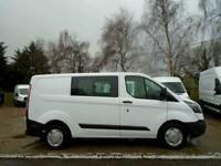 2016 (66) FORD TRANSIT 2.0 TDCi 105ps SWB Low Roof D/Cab Van (NO VAT)
