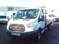 Ford Transit 350 L4 DROPSIDE 125PS EURO 5 DIESEL MANUAL WHITE (2015)