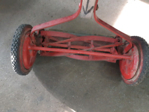 Antique reel mower