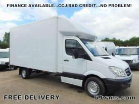 2010 10 MERCEDES-BENZ SPRINTER 130BHP, LUTON, BOX VAN, FSH, 500KG TAIL LIFT