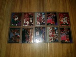 10 x Michael Jordan Basketball Cards all inserts