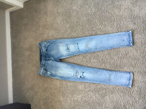 Woman's Silver jeans for sale