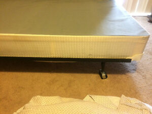 Mattress Box spring, and bed stand and dresser London Ontario image 4