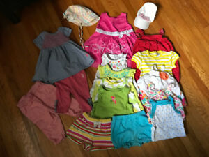 6-12 months summer girls clothing lot