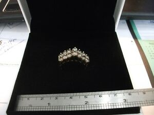 Womens 14k yellow gold and diamond ring. 3.36ct total