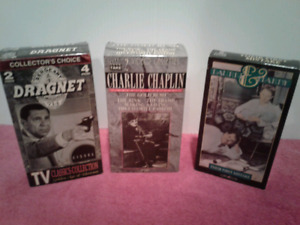 Classic Collection VHS  T.V Dragnet , Chaplin and Laurel Hardy