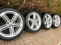 "Genuine Audi A6 A7 A8 20"" S Line Alloy Wheels & Tyres"