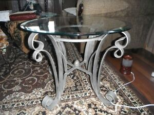 4pc Glass Tables