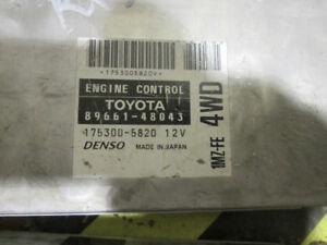.TOYOTA ECU ENGINE CONTROL UNIT(FWD) 1MZ-FE 89661-48043 $75.99 C