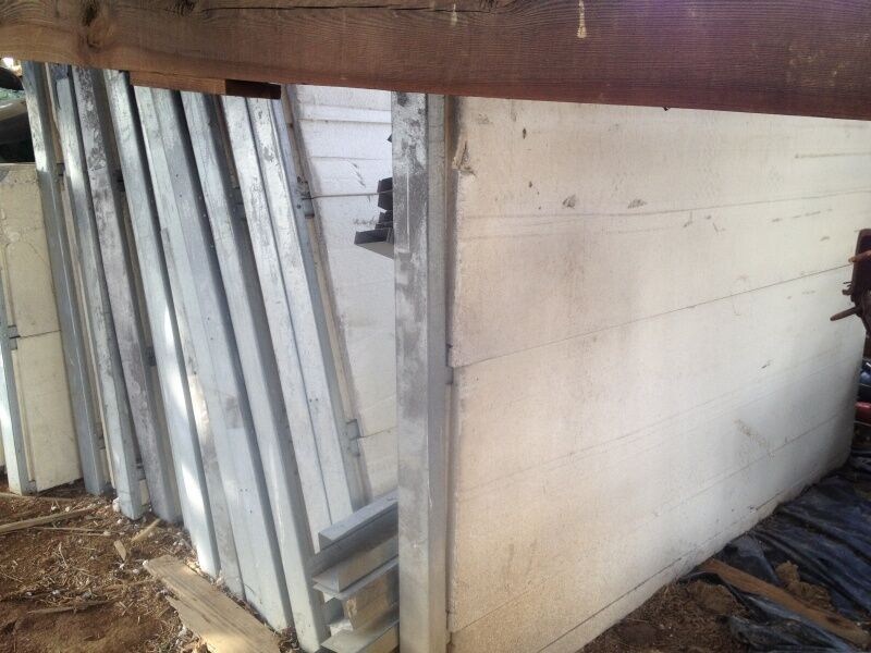 "4"" Reclaimed Combined Foam Insulation & Metal Building Panels and Studs"