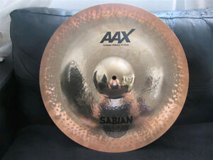 "Sabian 19"" AAX X-treme chinese cymbal, brilliant finish, drums"