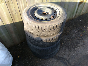 Winter tires plus rims 185/65R14