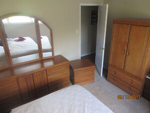 SOLID OAK BEDROOM SET - 4 pieces