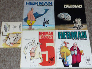 Herman Treasury Books 3rd, 4th, 5th &6th plus one by Jim Unger