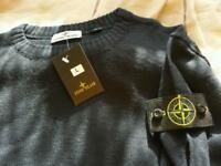 Stone Island Black Large Jumper New