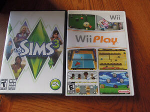 Sims 3 and Wii Play