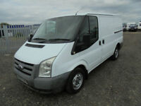 2009 58 FORD TRANSIT 2.2TDCi DURATORQ 85PS 280 SWB LOW ROOF PANEL VAN IN WHITE