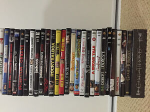 24 DVDs/2 TV SERIES FOR SALE. DVDs $5 EACH OR $50 FOR 24 DVDs