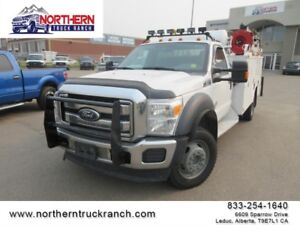 2011 Ford Super Duty F-550 SERVICE TRUCK CRANE AIR COMPRESSOR