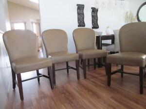 Dining chairs taupe chairs only