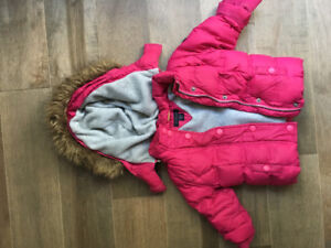 Tommy Hilfiger 18 month winter coat with removable faux fur