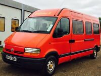 RENAULT MASTER T35 LWB (1998 - S REG) '14 SEATER COACH / MINI-BUS' **LOW MILES**