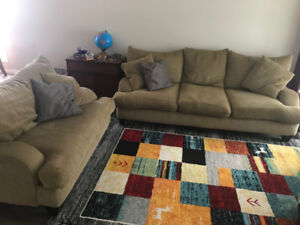 Comfy couch & loveseat combo - Great deal!