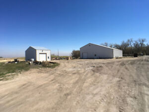 46 Acres with TWO heated Shops-RM of Portage la Prairie