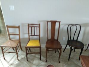 4 Mismatched Wood Chairs [$20 for the 4]