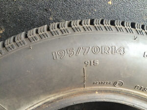 "14"" Studded winter tires.. Lightly used!"