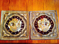 Two ornate cushion covers