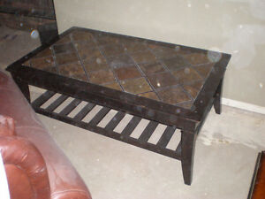 Wood Coffee Table with Ceramic top.