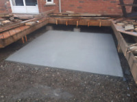Residential hottub pads and recreational concrete