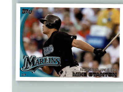2010 Topps Update Rookie Card Rc Mike Giancarlo Stanton   327 Quantity