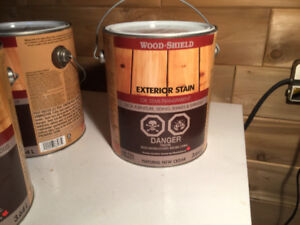 We have 4 gallons of exterior semi transparent oil stain,