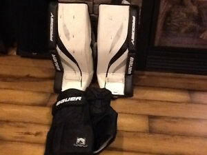 Bauer pads and goalie pants